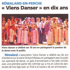 Association viens danser articles du journal le perche et ouest france apr - Le journal le perche ...